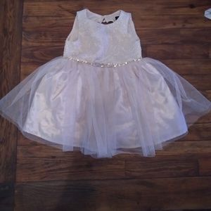 Other - Baby Girl Fancy Cream and Gold Dress- 18 Months